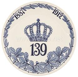 """Ehrenschale aus Meißner Porzellan des Königlich Sächsischen""""Infanterie-Regiment Nr. 139"""""""