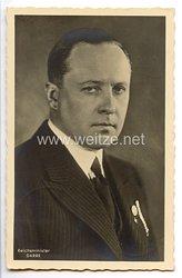 III. Reich - Portraitpostkarte von Reichsminister Walter Darré