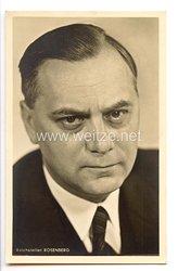 III. Reich - Portraitpostkarte von Reichsleiter der NSDAP Alfred Rosenberg
