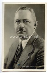 III. Reich - Portraitpostkarte von Landtagspräsident Hanns Kerrl