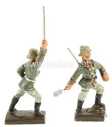 Lineol - Heer Sturmoffizier und Soldat Handgranate werfend