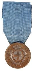 """Italien 2. Weltkrieg bronzene Tapferkeitsmedaille """"Al Valore Militare"""" für einen deutschen Soldaten"""