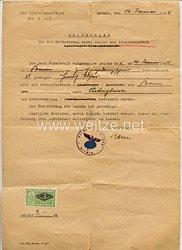 III. Reich - Leichenpaß für die Beförderung einer Leiche mit Pferdefuhrwerk