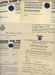 III. Reich - kleine Dokumentengruppe einer Frau zum Vorbereitungslager zum Grenzlandeinsatz der Jugendgruppe der NSF im Gau Kärnten