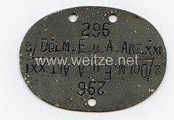 "Wehrmacht Heer Erkennungsmarke ""2.Dolm. E.u.A.ABT XXI"" ( Dolmetscher )"