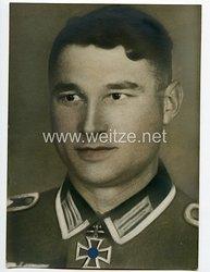 Wehrmacht Heer Portraitfoto eines Ritterkreuzträger