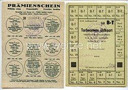 III. Reich / Lettland - Prämienschein und Allgemeine Bedarfswarenkarte von 1944