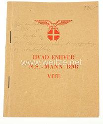 "Norwegen 2. Weltkrieg unter NS Führung : Merkbuch der Hirden ""Hvad Enhver N.S.-Mann bor vite"""