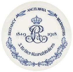 """Ehrenschale aus Meißner Porzellan des Königlich Sächsischen """"3. Reiter-Karabiniers 1849-1918"""""""