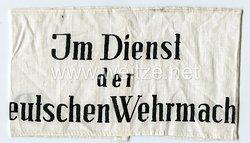 """Armbinde für Zivilangehörige der WH """"Im Dienst der Deutschen Wehrmacht"""""""