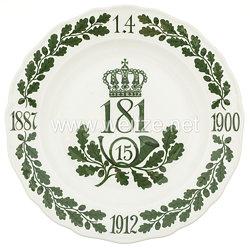 """Ehrenschale aus Meißner Porzellan des königlich sächsischen""""15. Infanterie-Regiment Nr. 181"""""""