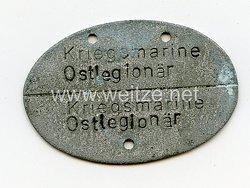 """Kriegsmarine Erkennungsmarke """"Kriegsmarine Ostlegionär Husa Hedron"""""""