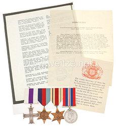 England 2. Weltkrieg Nachlass desspäteren gefallenen Leutnants Harris, Träger des