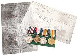England 1. Weltkrieg Ordensnachlass des Gefreiten