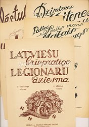 III. Reich / Lettland - 5 Notenblätter von lettischen Liedern wie z.B.