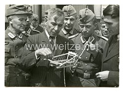 Wehrmacht Heer Foto, Offiziere eines Freiwilligen Bataillon derOstlegion