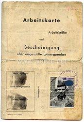 III. Reich - Arbeitskarte für Arbeitskräfte aus den besetzten Ostgebieten