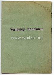 III. Reich / Der Stadthauptmann in Lemberg - Vorläufige Kennkarte für eine Frau des Jahrgangs 1923 aus Polen