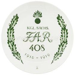 """Ehrenschale aus Meißner Porzellan des""""Königlich Sächsischen Feldartilliere Regiment 408"""""""