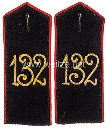 Preußen Paar Schulterklappen für Mannschaften im Infanterie-Regiment 1. Unter-Elsässischen Infanterie-Regiment Nr. 132