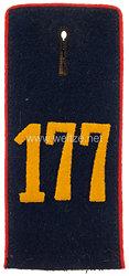 Königreich Sachsen Einzel Schulterklappe für Mannschaften im Königlich Sächsischen 12. Infanterie-Regiment Nr. 177