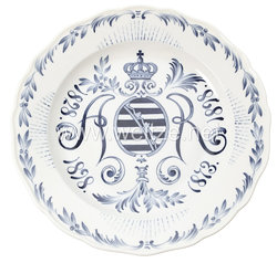 Königreich Sachsen Jubiläumsteller zum 70. Geburtstag König Albert von Sachsen 1898