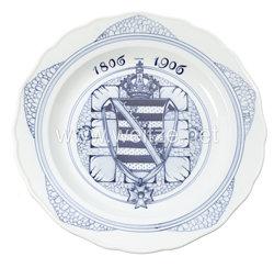 Königreich Sachsen Erinnerungsteller 100 Jahre Königreich 1806 - 1906