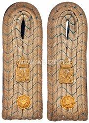 Preußen Paar Schulterstücke für einen Geheimen Kanzleisekretär im Kriegsministerium