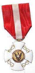 Orden der Krone von Italien Offizierskreuz im Verleihungsetui