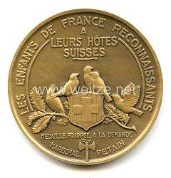"""Frankreich Vichy Regierung Medaille """"Les Enfants de France Reconnaissants"""""""
