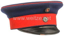 Preußen Schirmmütze für einen Offizier der Infanterie