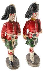 Elastolin - 1. Weltkrieg Schottland 2 Highlander Soldaten marschierend
