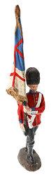 Elastolin - 1. Weltkrieg England English Guards Fahnenträger marschierend