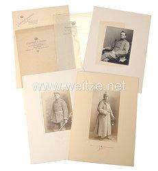 1. Weltkrieg 4 große Studiofotos eines späteren Leutnants der Feldartillerie