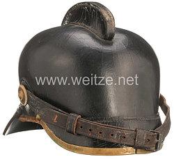 Königreich Sachsen Lederner Feuerwehrhelm
