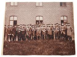 Deutsches Kaiserreich Foto, Soldaten der Schiess-Schule der Feldartillerie in üterbog 1898