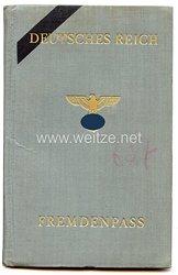 III. Reich - Fremdenpass für einen Mann des Jahrgangs 1911 aus Ihlenfeld