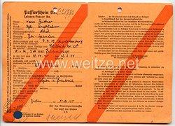 Luftwaffe - Passierschein für einen Unteroffizier und Kraftfahrer