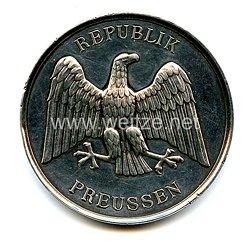 """Preussen Freistaat Große nichttragbare Medaille """"Für Rettung aus Gefahr"""""""