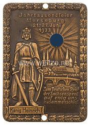 """III. Reich nichttragbare Erinnerungsplakette """"Jahrtausendfeier Merseburg 21.-27. Juni 1933"""""""