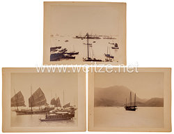 Deutsches Kaiserreich Fotos, Aufnahmen von Hongkong um 1900 Jahrhundert