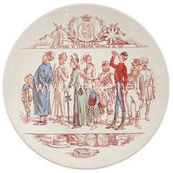 """Frankreich Zierteller """"Les Visiteurs de L'Exposition Universelle de 1889 - Angleterre"""""""