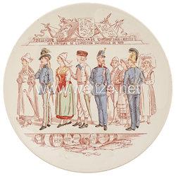 """Frankreich Zierteller """"Les Visiteurs de L'Exposition Universelle de 1889 - Belgique Hollande Suède & Norvège"""""""