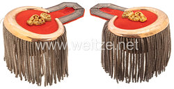 Württemberg Paar Epauletten für einen Major imim Infanterie-Regiment König Wilhelm I. (6. Württembergisches) Nr. 124