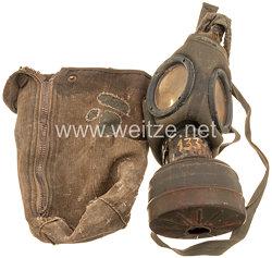 Luftwaffe Tragetasche und Gasmaske für Fallschirmjäger