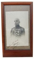 Belgien Portraitfoto eines Offiziers mit Auszeichnungen