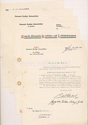 Nationaler Deutscher Automobilclub / Ring der Nationalen Kraftfahrt- und Luftfahrtbewegung - Dokumentengruppe für einen Mann und Ordentliches Mitglied Nr. 955 aus Coburg