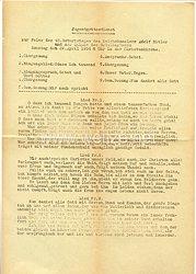 III. Reich - Programmblatt zum Jugendgottesdienst zur Feier des 45. Geburtstages des Reichskanzlers Adolf Hitler