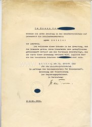 III. Reich - Ernennungsurkunde für eine Schulamtsanwärterin zur Lehrerin