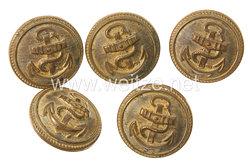 Reichsmarine 5 Uniformknöpfe